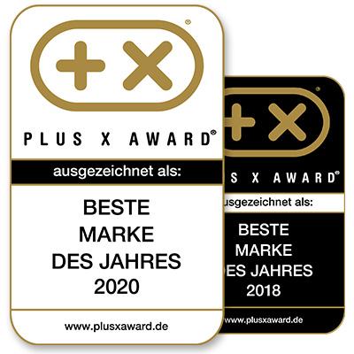 Plus X Award Beste Marke des Jahres 2018